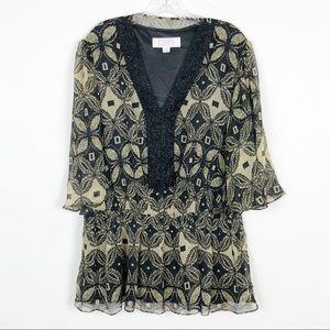 Badgley Mischka American Glamour Sequin Top 1X